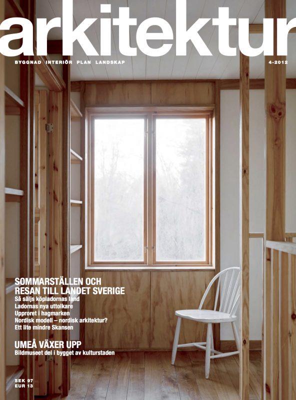 SLUTSÅLD: Arkitektur nr 4 2012
