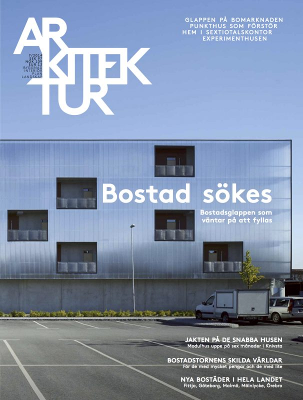 SLUTSÅLD: Arkitektur nr 7 2014