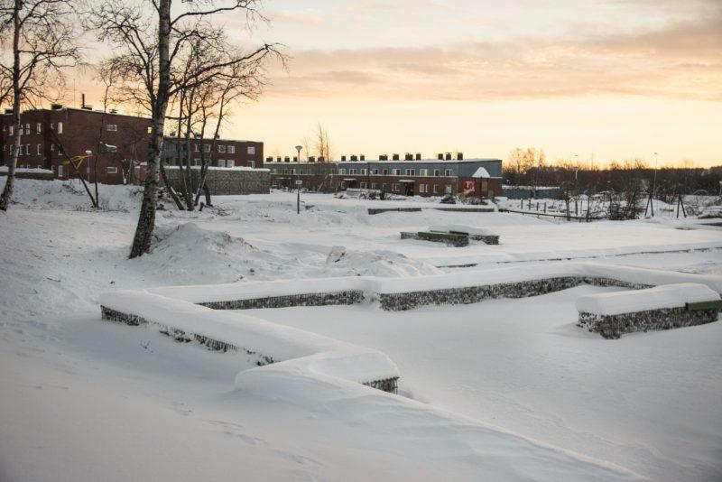 Gruvstadsparken, Kiruna av Sofia Sundberg, Karl Tuikkanen och Ingo Vetter. Ur Arkitektur nr 7 2016. Foto: Ricard Estay.