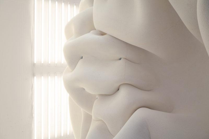 Erratic i ADD:s kombinerade utställningsrum och café. Erratic, detalj av installation. FOTO: NORELL/RODHE
