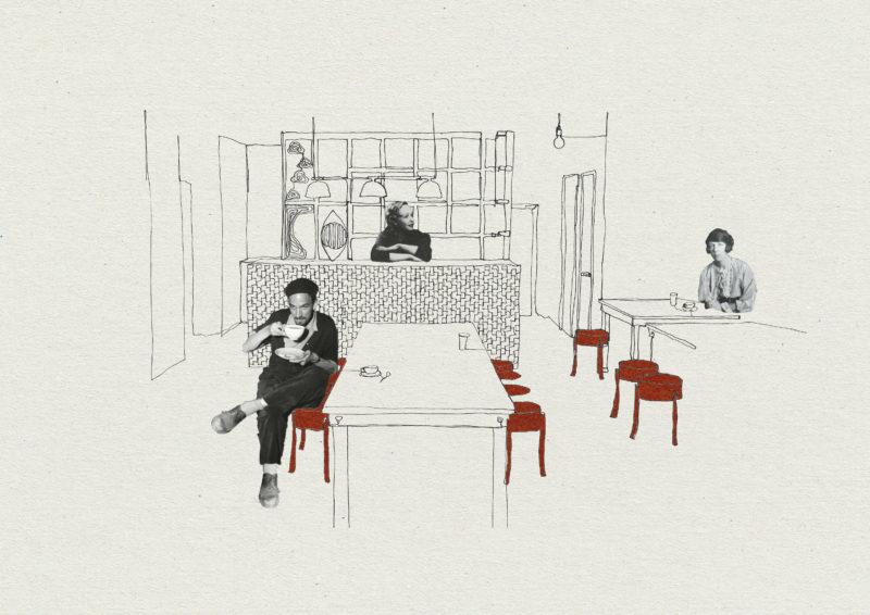 Skiss av Café Suédois. Bild: David Andrén
