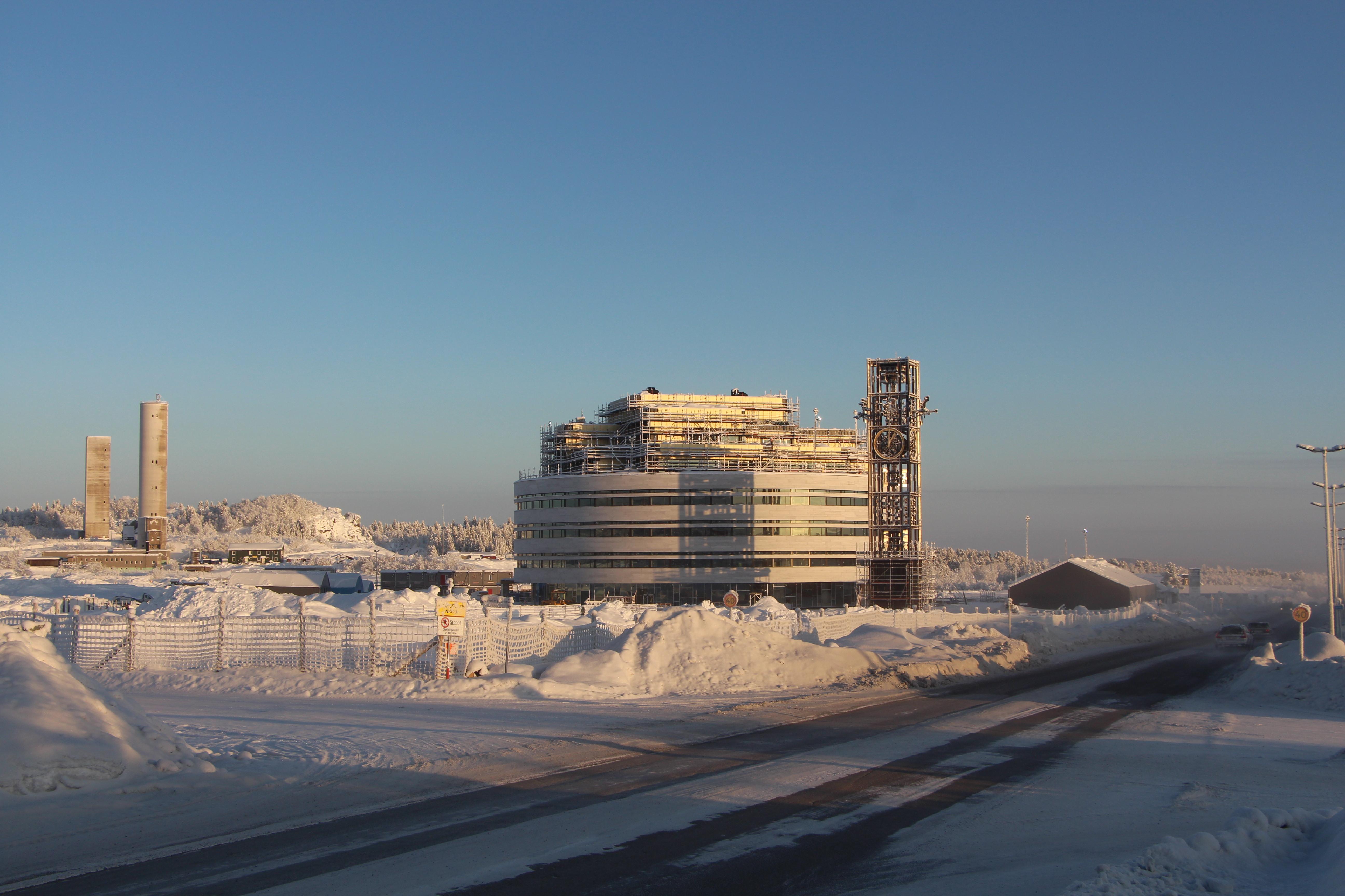 Kirunas nya stadshus av Henning Larsen Architects.