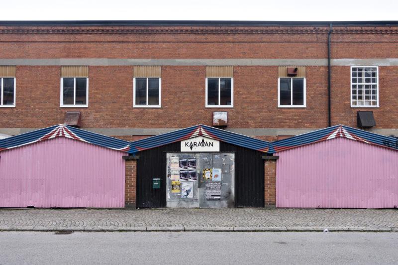 Före detta industribyggnad som innehåller ett antal olika verksamheter, bland andra Potato Potato, Tambourine Studios och Malmö Dansakademi.